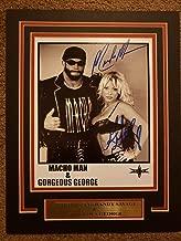 WWE WWF WCW MACHO MAN RANDY SAVAGE 11X14 Matted Namplate 8x10 PHOTO AUTOGRAPH