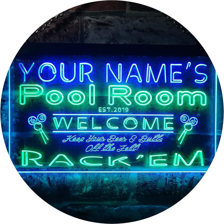 ADVPRO Personalized 激安通販 Your Name Est Year Pool Theme Rack'em ランキングTOP5 C Room
