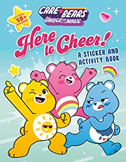 Here to Cheer!: A Sticker and Activity Book (Care Bears: Unlock the Magic)