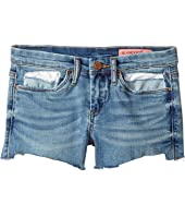 Blank NYC Kids - Raw Hem Shorts in Blue (Big Kids)