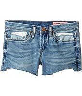 Blank NYC Kids - Raw Hem Shorts in Blue (Big Kids)