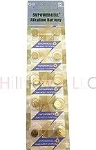 Hillflower 20 Piece AG5 LR48 G5 393 LR754 Card 0% Hg 1.5V Alkaline New Battery