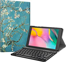 Fintie Keyboard Case for Samsung Galaxy Tab A 8.0 2019 Without S Pen Model (SM-T290 Wi-Fi, SM-T295 LTE), Slim Shell Lightweight Stand Cover with Detachable Wireless Bluetooth Keyboard, Blossom