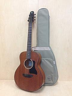 Caraya P304111eq Arch-Back All-Mahogany Parlor Travel Guitar w/EQ+HD Canvas Bag