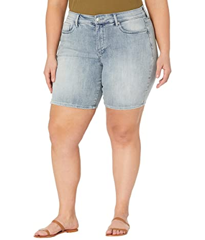 NYDJ Plus Size Plus Size Ella Denim Shorts in Clean Affection