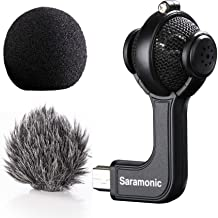 Saramonic G-Mic Stereo Ball Gopro Microphone with Foam & Furry Windscreens for GoPro..