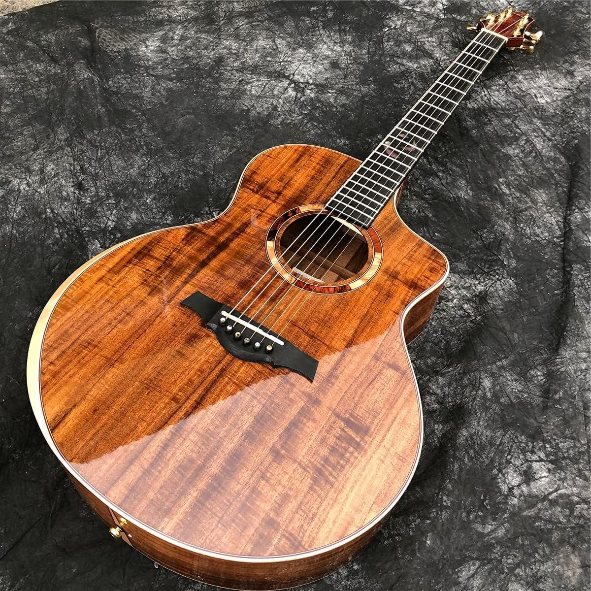 Guitarra All Solid Wood 41 Pulgadas Cortaway Acústico Instrumentos Guitarmusicos Acústica Guitarra Kitsacústica Steel-String Guitars Guitarra de Madera AMINÍ
