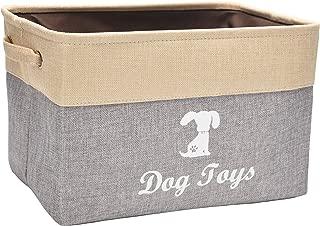 Linen Storage Basket Bin Chest Organizer - Perfect for Organizing Dog Toys Storage, Dog Shirts, Dog Coats, Dog Toys, Dog Clothing, Dog Dresses, Gift Baskets