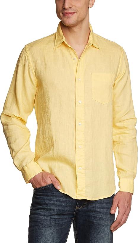 Dockers Camisa de Lino Manga Larga Sudae L: Amazon.es: Ropa
