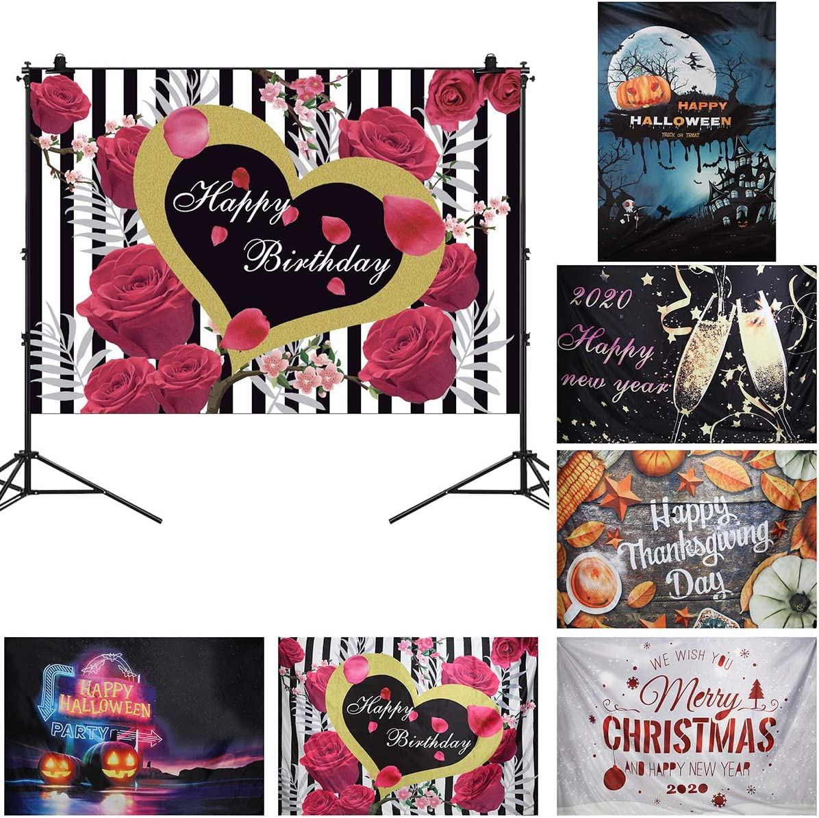 Yinuoday 7x5ft Happy Thanks Giving Day Photography Backdrop Photo Studio Backgrounds Festival Party Decoration Photo Studio Props