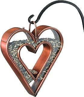 Good Directions 0113VB Heart Fly-Thru Bird Feeder Birdfeeder, Copper Finish