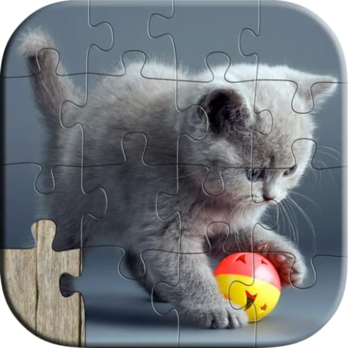Cute Cat Puzzles for Kids - Free Trial Edition - Fun and Educational Jigsaw Puzzle Learning Game for Kids and Preschool Toddlers, Boys and Girls 2, 3, 4, or 5 Years Old