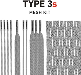 String King Type 3s Semi-Soft Lacrosse Mesh Kit with Mesh & Strings (Assorted Colors)