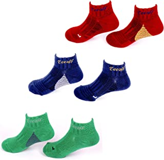 Teeoff Boys' 3 Pack Low Cut Ankle Athletic Socks with Arch support