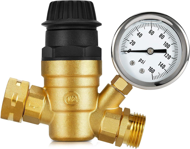 Charlotte Mall Kohree Handle Adjustable RV Water Upgr Regulator lowest price Valve Pressure