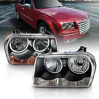 AmeriLite Headlights Black (CCFL Halo) for Chrysler 300 - Passenger and Driver Side