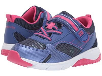 Stride Rite M2P Indy (Toddler) (Navy/Pink) Girls Shoes
