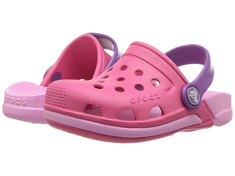 Crocs Kids Electro III Clog (Toddler/Little Kid) (Paradise Pink/Carnation) Kids Shoes