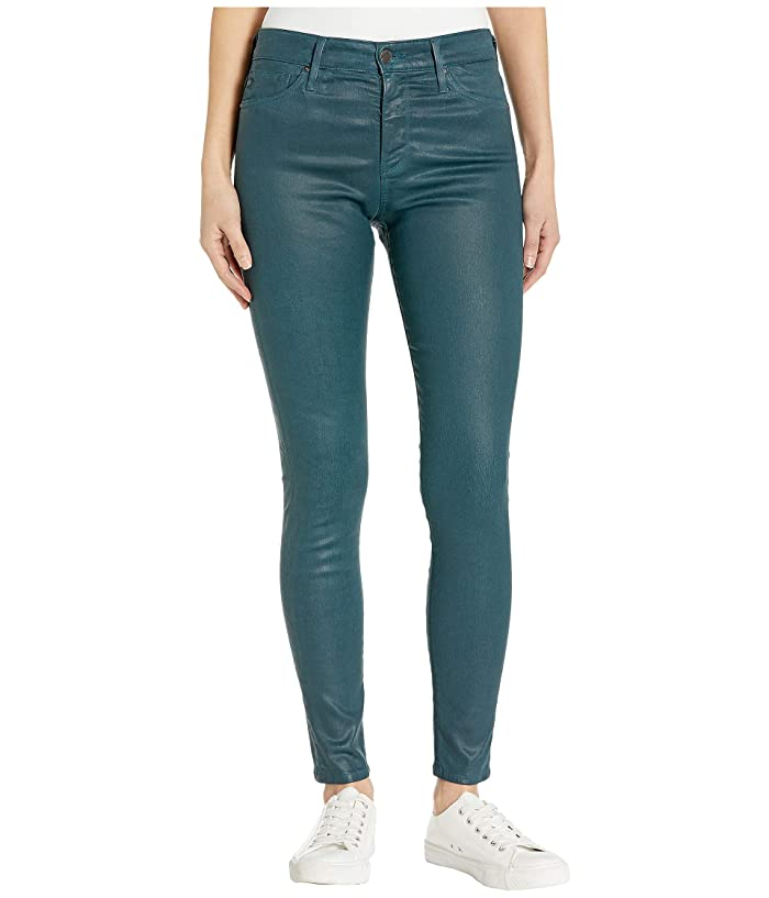 AG Adriano Goldschmied  Farrah Skinny Ankle (Leatherette Light Royal Lagoon) Womens Casual Pants