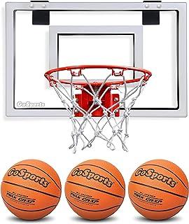 GoSports Basketball Door Hoop with 3 Premium Basketballs & Pump (Renewed)