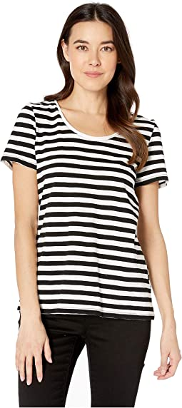 Short Sleeve Amour City Stripe Scoop Neck Tee