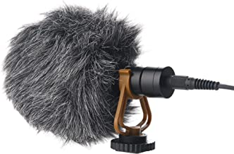 Ruittos M3 Universal Video Microphone, on-Camera External Condenser Cardioid Shotgun Mic for DSLR Camera, Canon Nikon Sony, Smartphone iPhone XR, PC, iPad, Video Camcorder, Vlog, with Microphone Shock