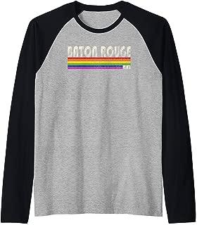 Vintage 80's Style Baton Rouge LA Gay Pride Month Raglan Baseball Tee