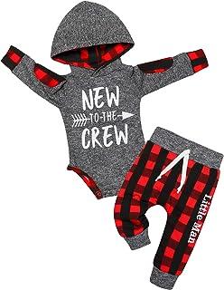 Von Kilizo Toddler Infant Boy Clothes Dinosaur Sweatshirt Sweatsuit Jogger Pant 2Pcs Winter Baby Boy Outfits