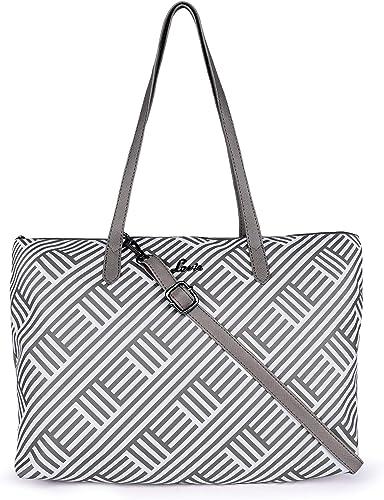 Pattachitra Large Horizontal Women s Tote Bag Grey