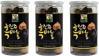 3 Pack of Jayone 250g (8.8 Oz) Organic Black Garlic Pearl Garlic, Made of 100% Fermented Single Clove Garlic in Gaft Box