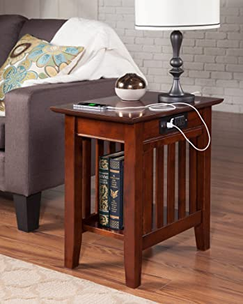 featured product Atlantic Furniture AH13214 Mission Side Table Rubber Wood Walnut