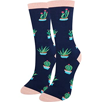 Succulent Cacti Unisex Funny Casual Crew Socks Athletic Socks For Boys Girls Kids Teenagers