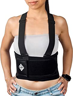 Lower Back Brace with Suspenders | Lumbar Support | Wrap for Posture Recovery, Herniated Disc Pain Relief | Waist Trimmer Work Ab Belt | Industrial, Adjustable | Oversize | Large Women & Men 5XL