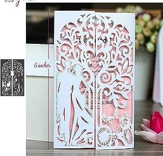 Love Metal Die Cuts,Wedding Invitation Princess Frame Couple Cutting Dies Cut Stencils for DIY Scrapbooking Photo Album Embossing Paper Dies for Scrapbooking Card Making