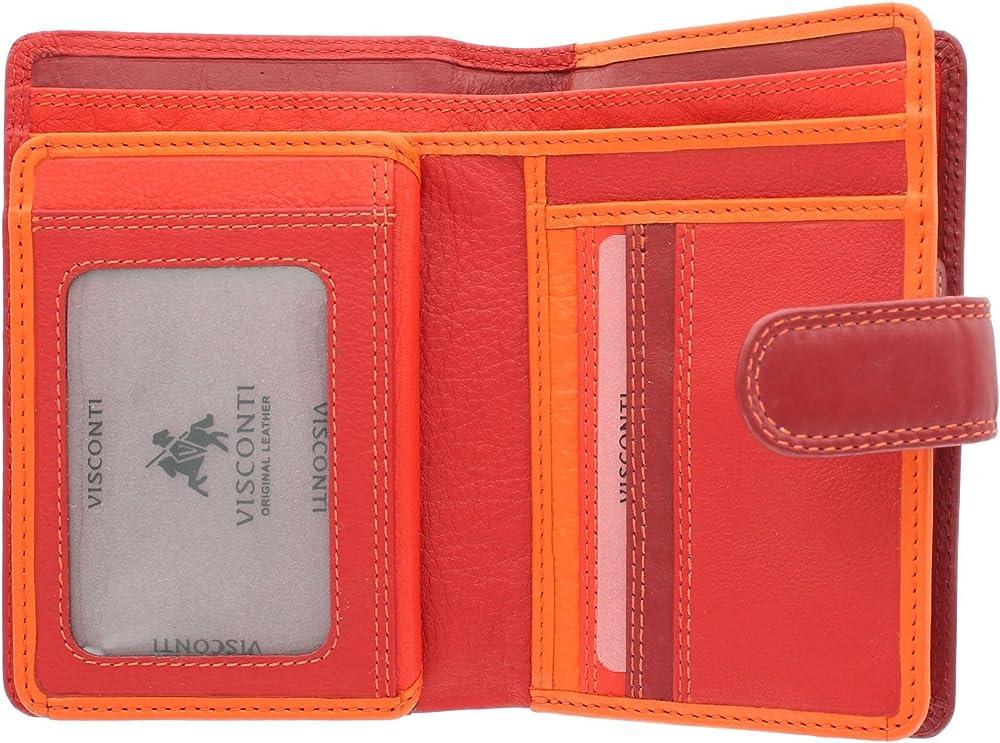Visconti portafoglio porta carte di credito con protezione anticlonazione per donna in pelle RB51_ac2