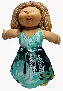 Doll Clothes Super store Long Green Print Sundress Fits Cabbage Patch Kid Dolls