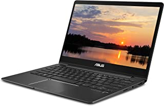 "Asus ZenBook 13 Ultra Slim Laptop, 13.3"" FHD Wideview, 8th Gen Intel Corei7-8565U, 8GB LPDDR3, 512GB PCIe SSD, Backlit KB, Fingerprint, Slate Gray, Windows 10, UX331FA-DB71"