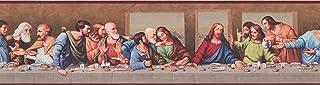 Concord Wallcoverings Classic Bible Wallpaper Border Featuring The Last Supper by Leonardo Da Vinci, Jesus and The Apostle...