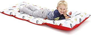 Disney Cars Padded Toddler Easy Fold Nap Mat With Attached Pillow Case - Navy,Red