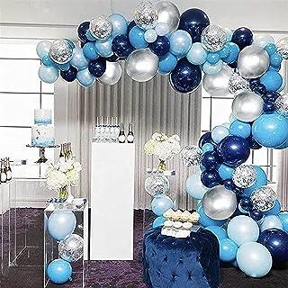 Kit d'arc de guirlande de ballons bleus, 102 pièces ensemble d'arcs de guirlande de ballons bleu marine avec des ballons m...
