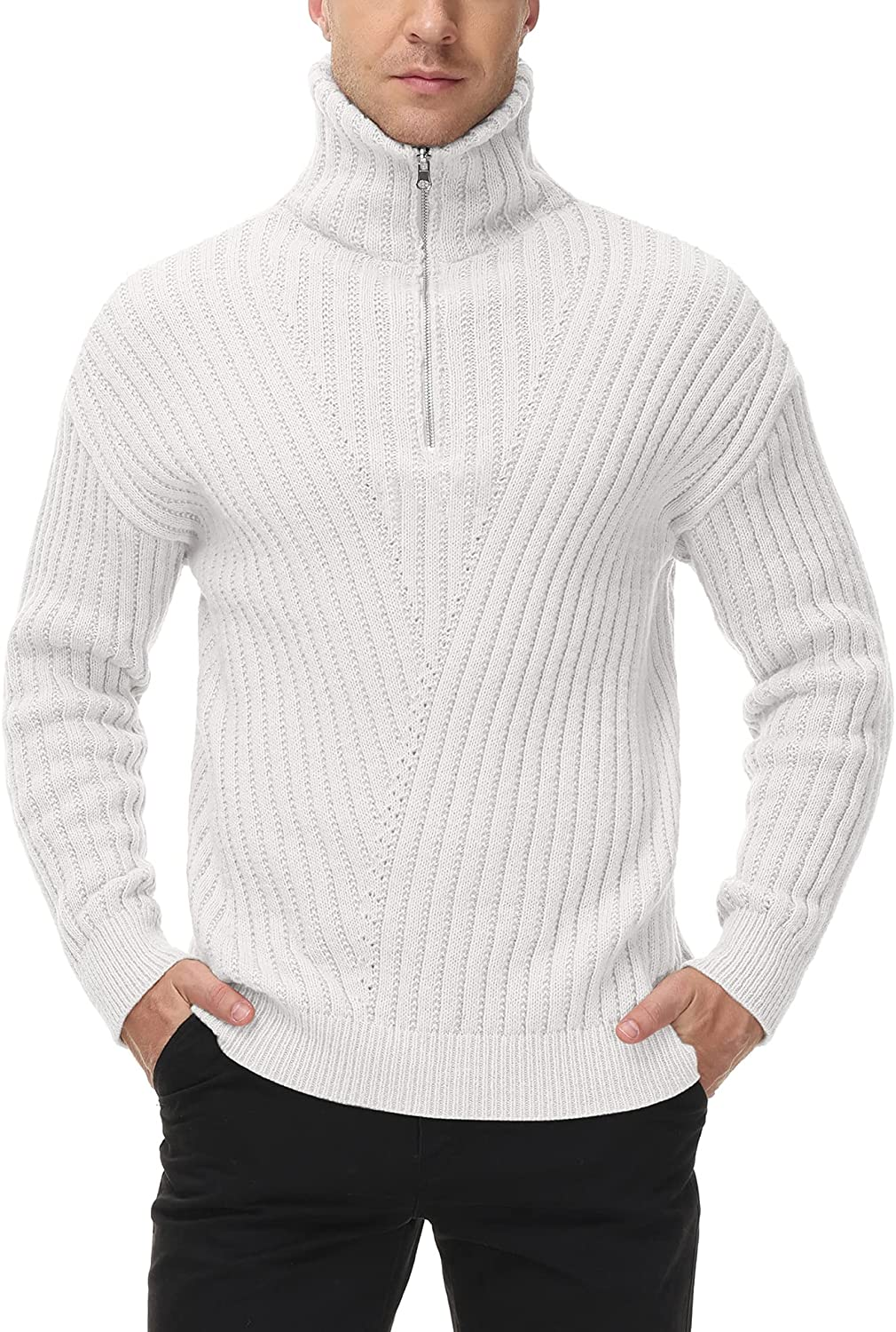 Conmite Men's Casual Max 70% OFF Max 90% OFF Turtleneck Pullover Fit Sweaters Knitt Slim
