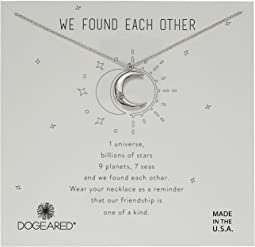 Dogeared We Found Each Other, Crecent Moon with Crystal Necklace