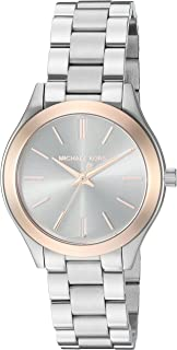 Michael Kors Women's Mini Slim Runway Silver-Tone Watch...
