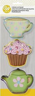 Wilton Tea Party Colored Metal Cutter Set, Multi-Colour, WT-2308-0092, Set of 3