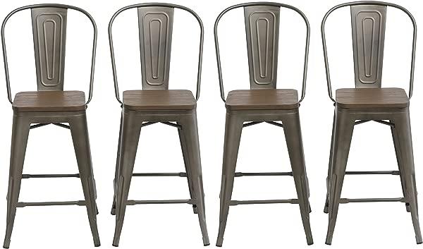 BTEXPERT 5048 24mcc 4 24 Inch Industrial Metal Vintage Antique Copper Chair