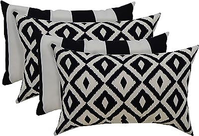 Choose Size RSH D\u00e9cor Set of 4 IndoorOutdoor Square /& Rectangle Lumbar Throw Pillows Made of Sunbrella Dolce Mango