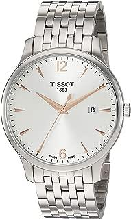 Men's Tradition Swiss Quartz Stainless Steel Dress Watch (Model: T0636101103701)