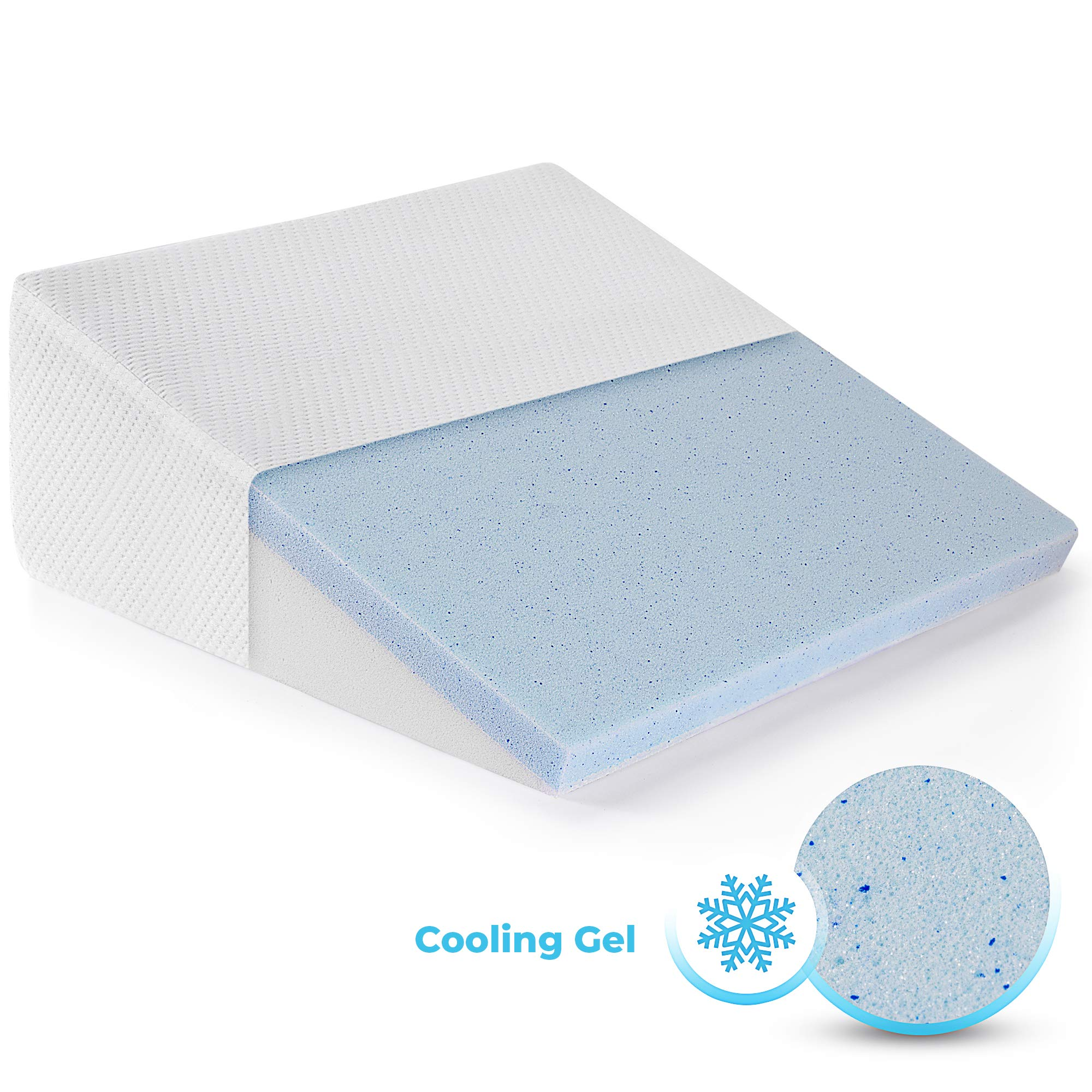 Healthex Wedge Pillow Cooling Memory