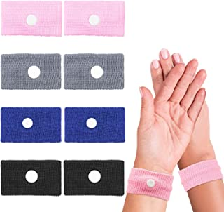 EAONE 4 Pairs Motion Sickness Relief Wristbands Anti Severe Nausea Bracelet for Car Sea Flying Pregnant Travel Sickness