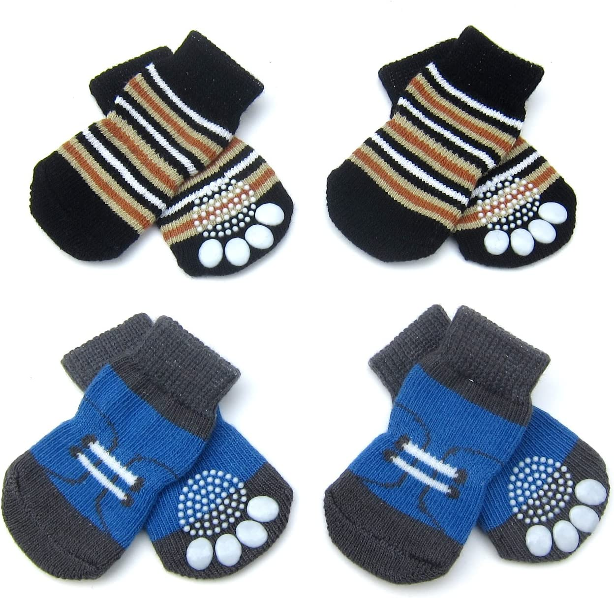 Alfie Pet - Gari 2 Set of Indoor Sale Special Price Socks New mail order 4 Dog Protection Paw